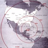 Cuban Missile Crisis diagram used during Cabinet Meetings; now at JFKennedy Library