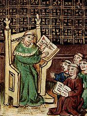 """Medieval copy of a book by Gautier de Metz, """"L'image du Monde"""" - Wikimedia, public domain"""
