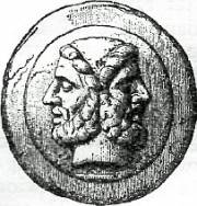 Greek coin with image of Janus, Courtesy Wikimedia Commons