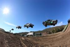 Jonny Greaves jumps 301 feet to claim 2WD truck record
