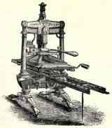 Albion Press, woodcut by George Baxter, Courtesy of Wikimedia Commons