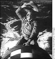 Slim Pickens, riding The Bomb all the way down in Stanley Kubrick's Doctor Strangelove (1964)