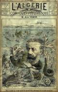 Cover caricature of Jules Verne, L'Algerie, 15 June 1884, courtesy of Wikimedia Commons